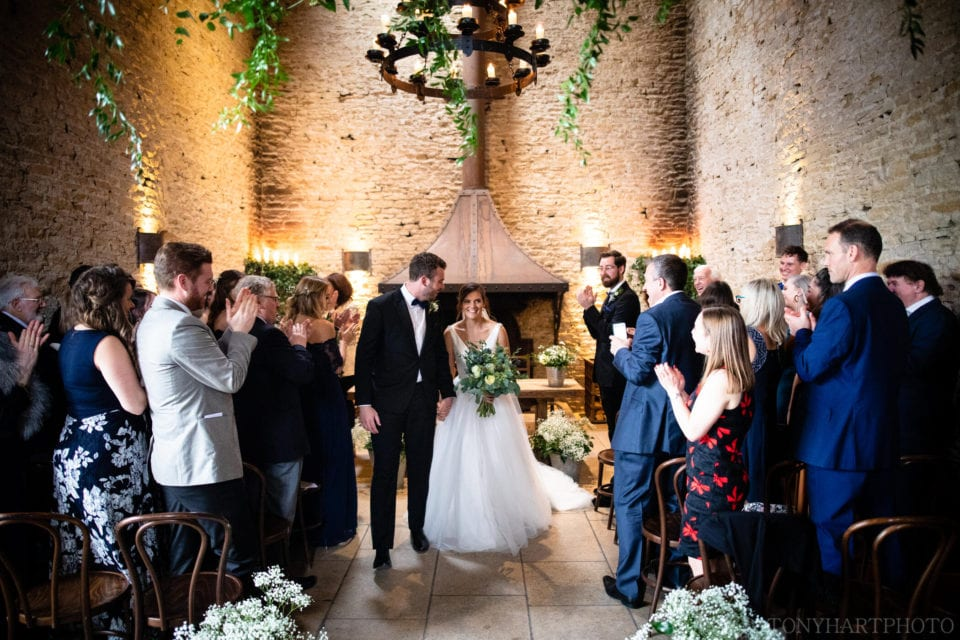 Cripps Stone Barn, exit of the bride and groom
