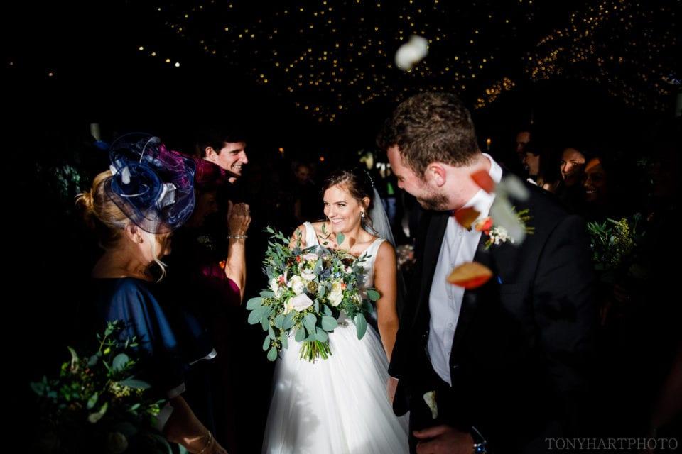 Wedding confetti at Cripps Stone Barn