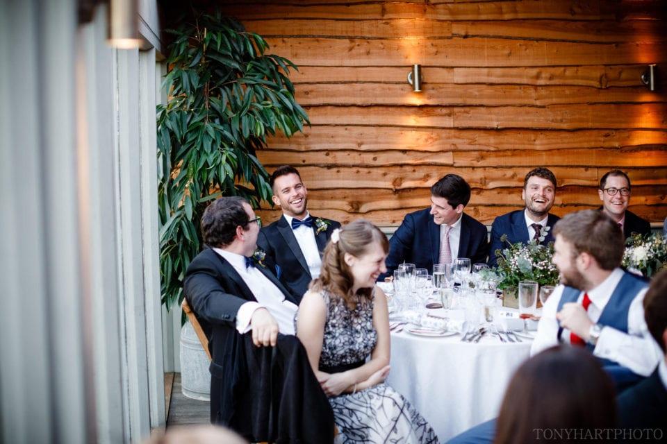 Stone Barn wedding guests