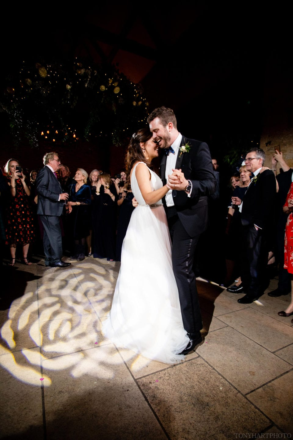 Rosie & Si's first dance at Stone Barn in the Cotswolds
