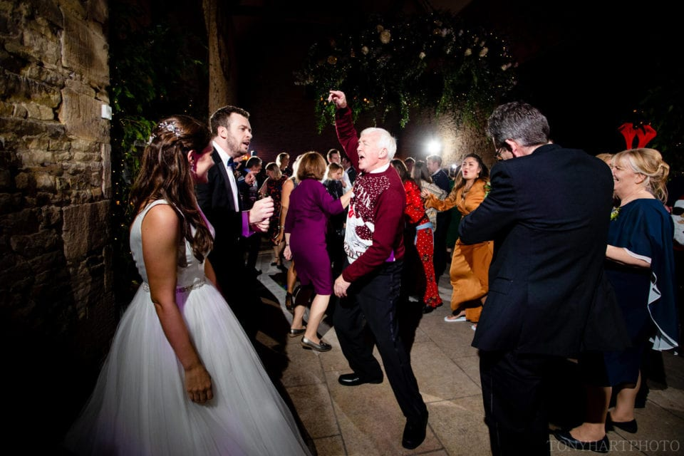 Father of the Groom throws down during the evening reception at Stone Barn