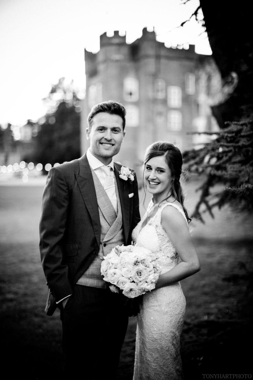 Lauren & Scott in front of Farnham Castle
