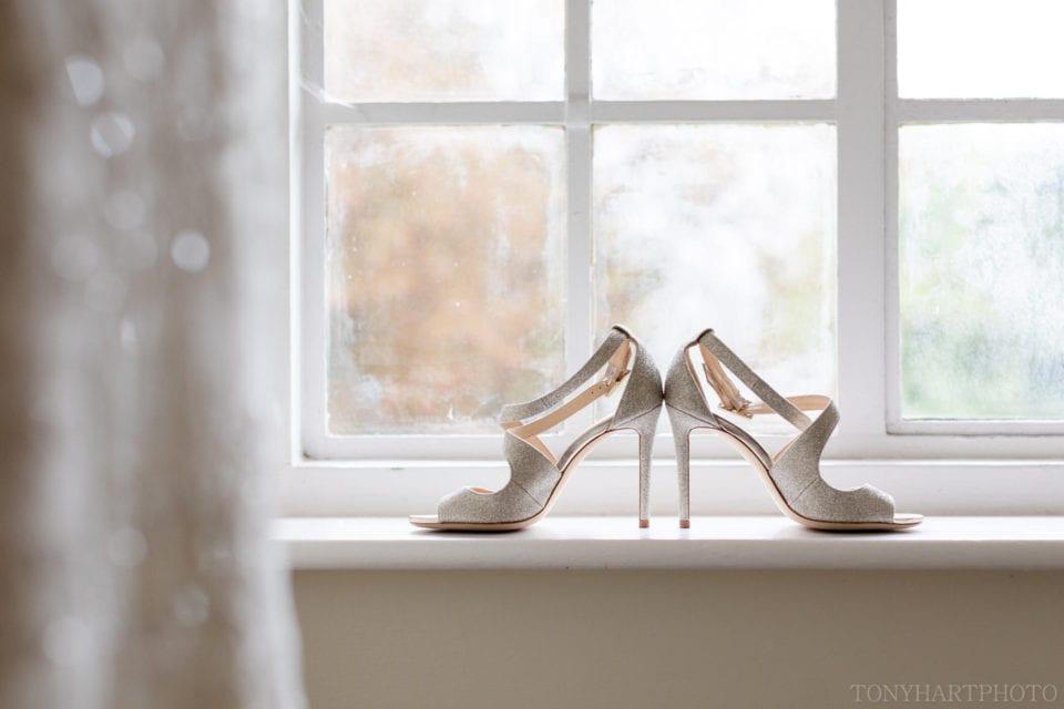 Lauren's Jimmy Choo shoes at Farnham Castle