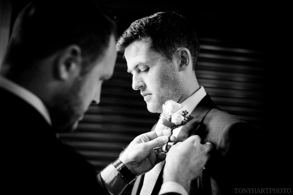 Scott getting his buttonhole sorted