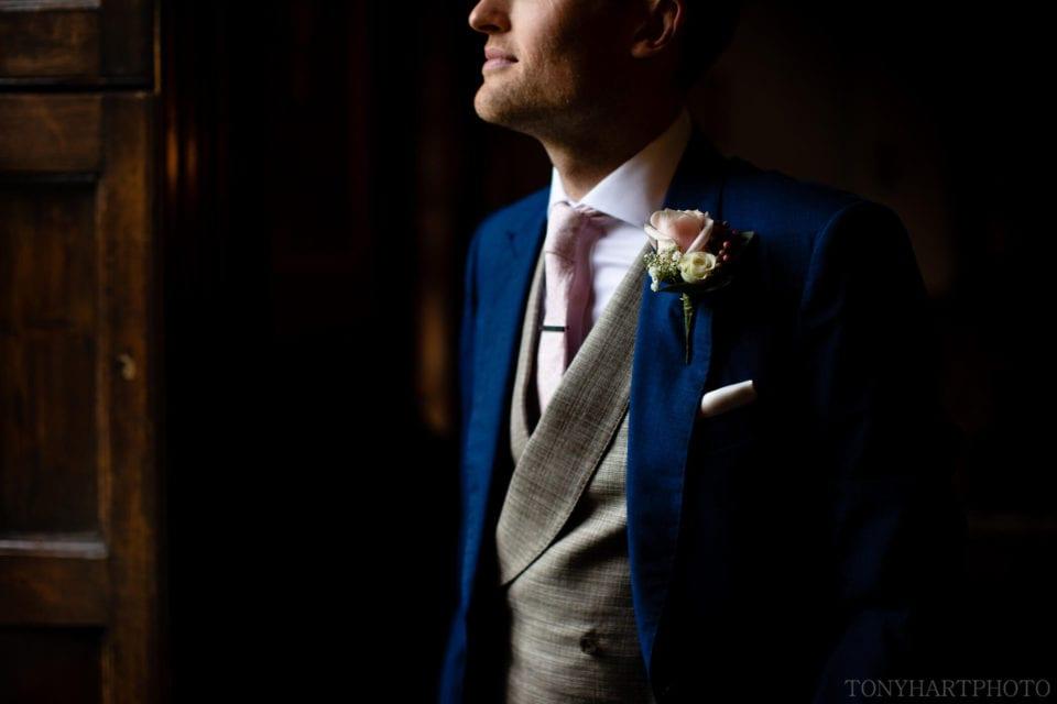 Groom email shot - Farnham Castle wedding