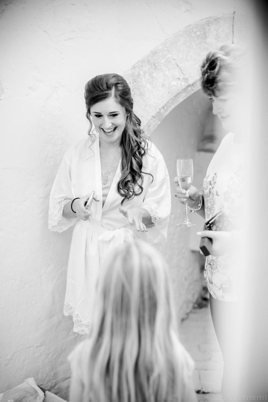 Lauren during the wedding prep