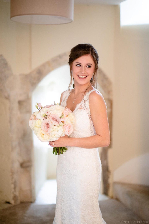 Bridal portrait at Farnham Castle