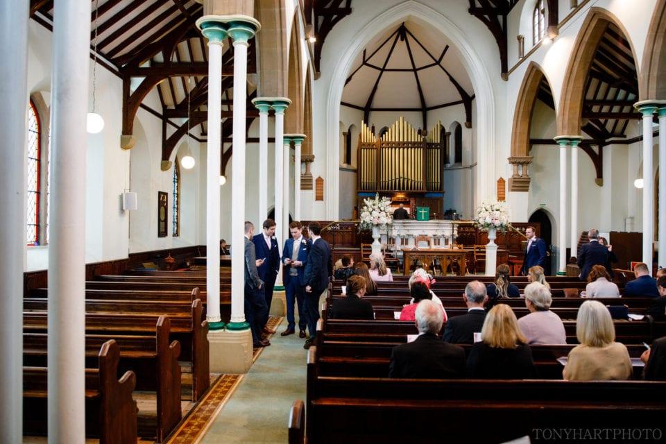 Groomsmen ahead of the wedding ceremony