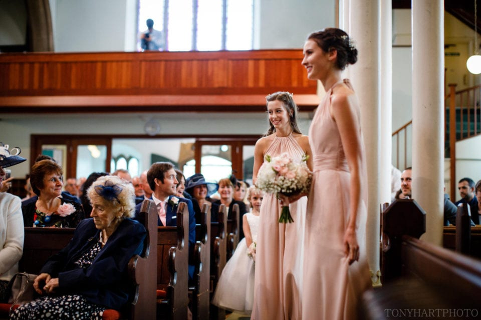 Bridesmaids entrance