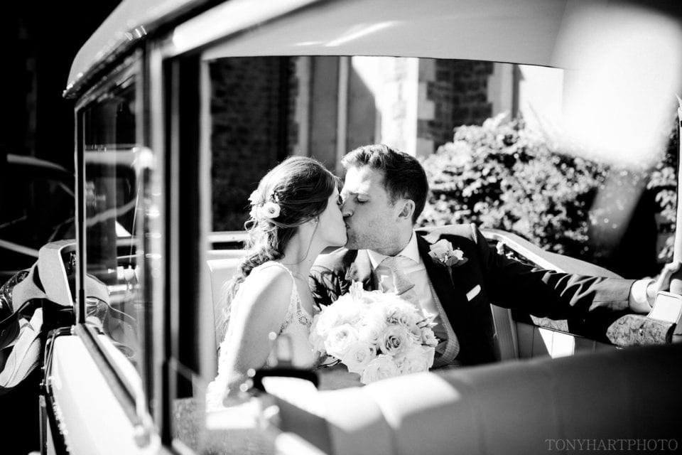 A kiss in the car