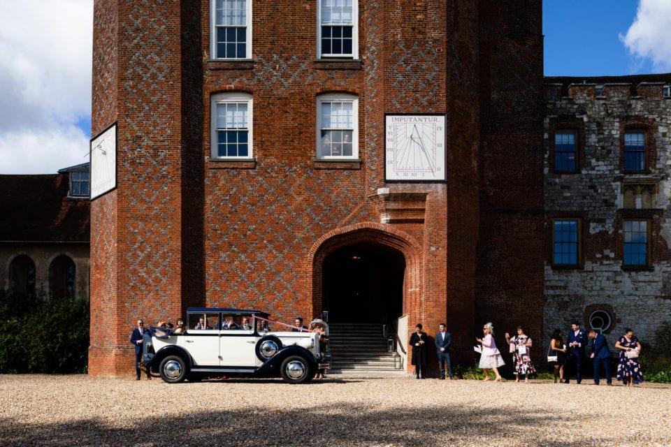 Arriving at Farnham Castle