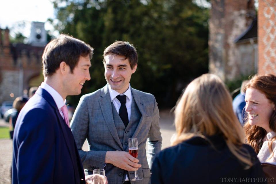 Gents chatting at Farnham Castle