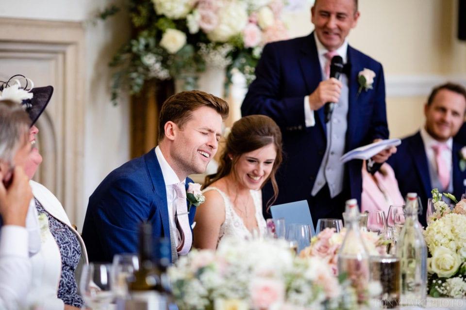 Oh no! Not that anecdote! Farnham Castle wedding speeches