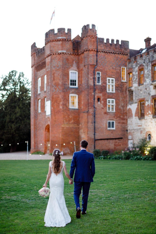 Bride & Groom make their way back to Farnham Castle