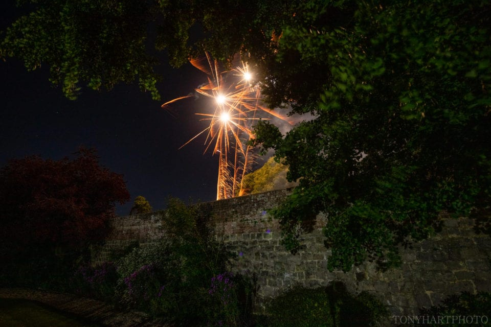 Fireworks over Farnham Castle