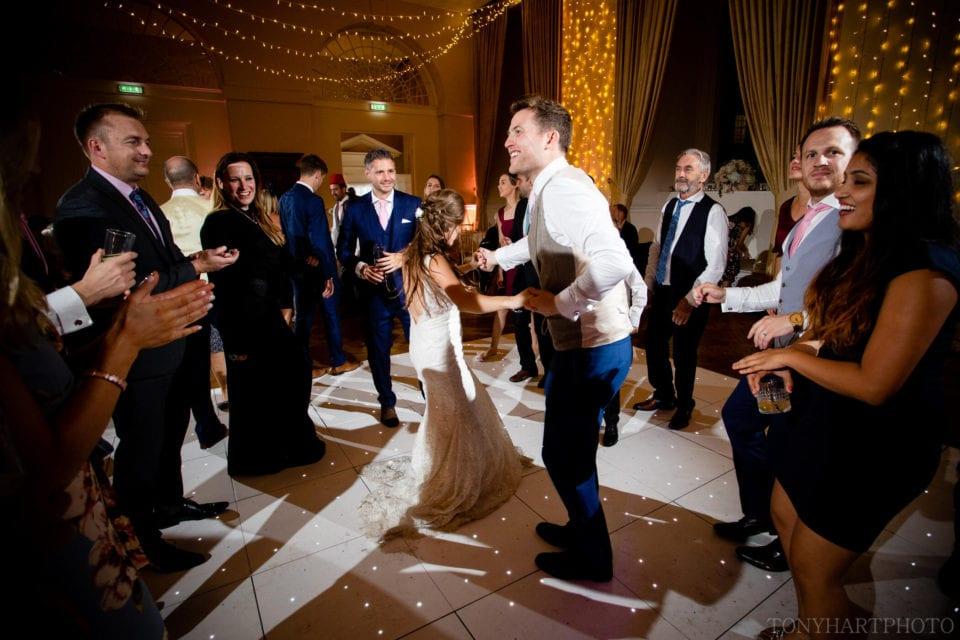 Farnham Castle Wedding - Lauren & Scott busting moves